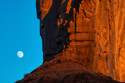 Moonrise and Camel Butte