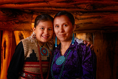 Navajo Mother and Daughter, Monument Valley