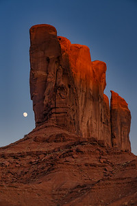 Moonrise Near Camel Butte, Monument Valley