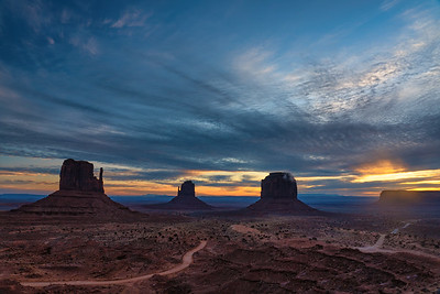 Sunrise Over Monumet Valley