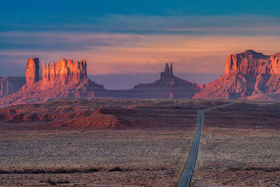 Sunrise Along Highway 163, Monument Valley