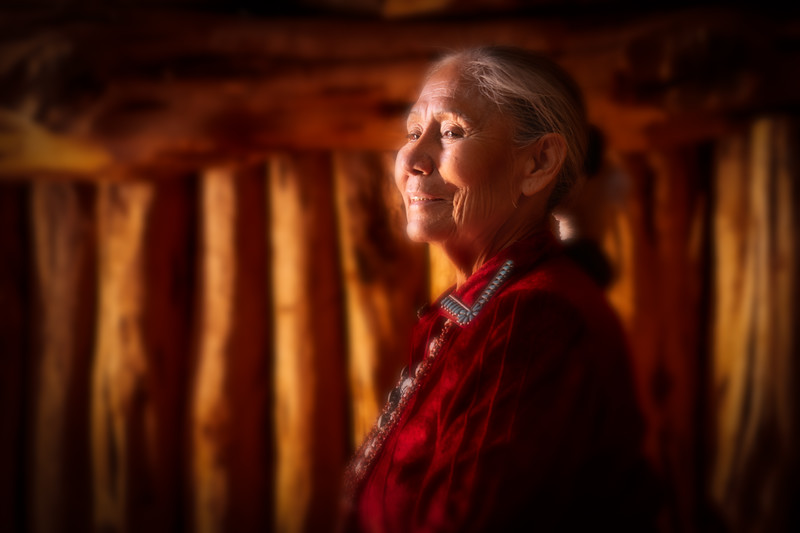 Francis, Navajo Female Elder, Monument Valley