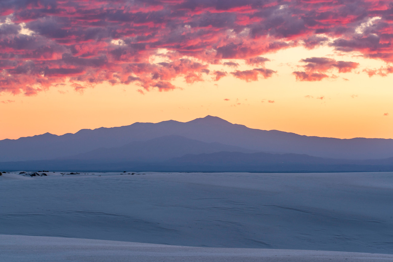 Dawn Sky Over White Sands