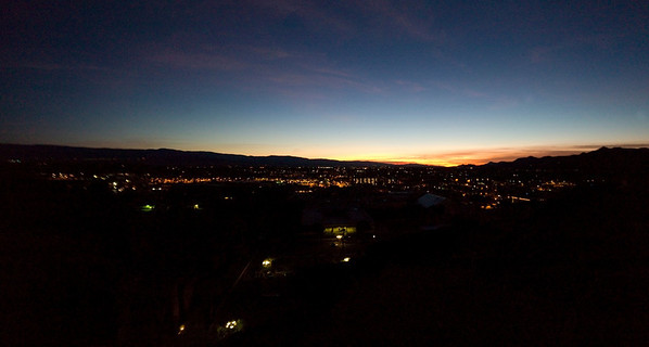Sunrise over the valley at 6:30 am on New Year's Day