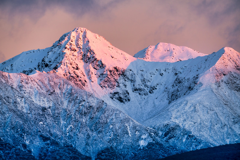 Snow-Capped Peaks Above Lake Te Anau