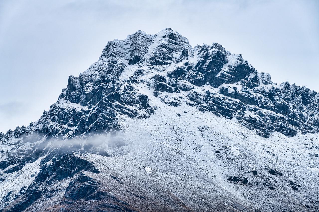 Snow-Covered Peaks Above Wakapitu Lake