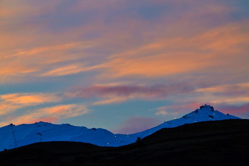 Coronet Ski FIeld and Dusk Sky