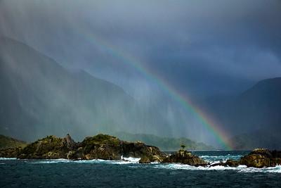 Rainbow Over Fiord