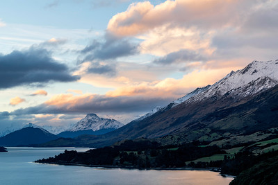 Sunset Over Lake Wakatipu Near Glenorchy