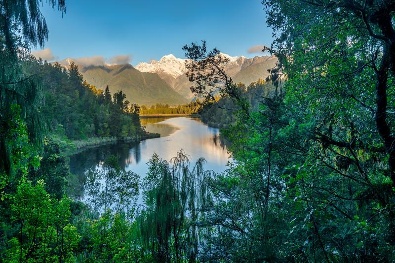 Lake Matheson and Alps