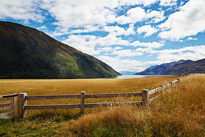 Fence Field Water Mountian Sky599C95773