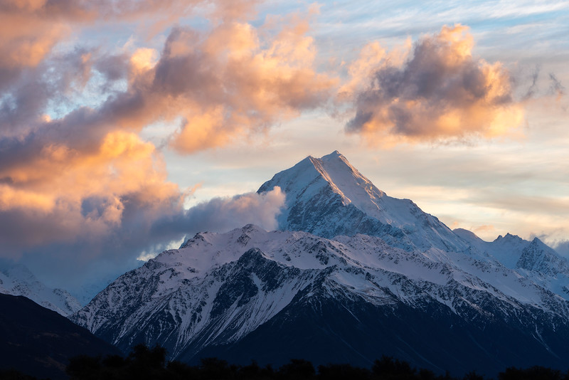 Sunset Clouds Over Mt. Cook
