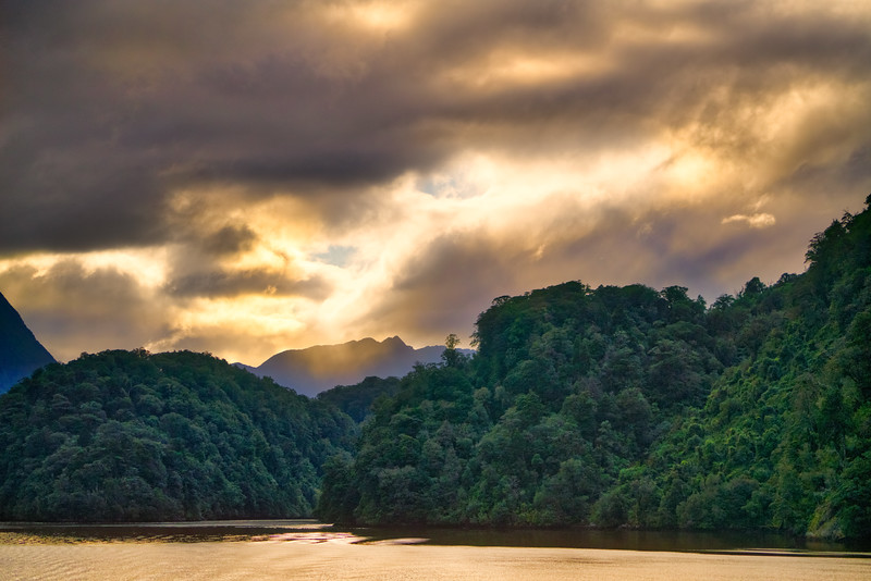 Radiant Light Over Doubtful Sound