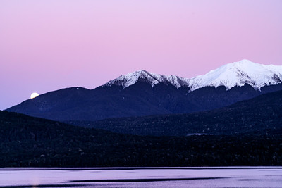 Moonset Over Lake Te Anau