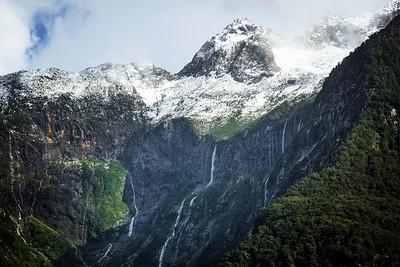 Snow Fed Waterfalls