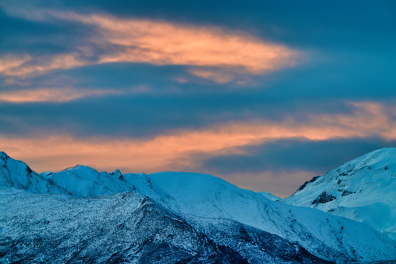 Dusk Light Over Crown Range