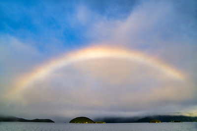 Rainbow Over Lake Manapouri