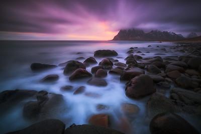 Stormy Arctic Sunset