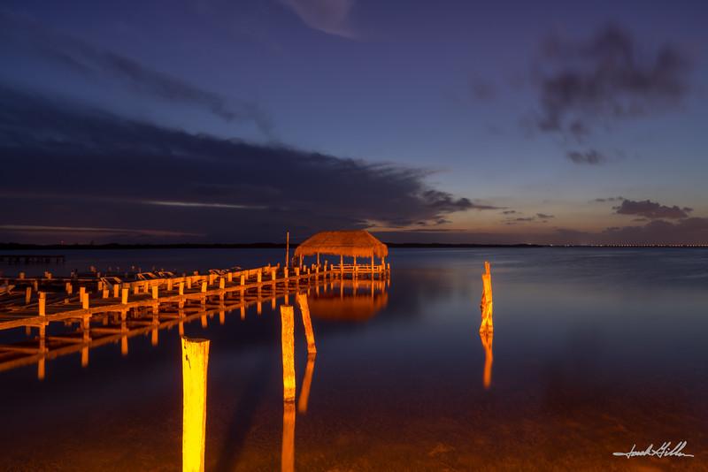 Lights  on dock
