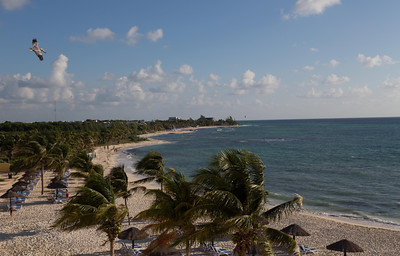 Beach, near Playa de Carmen, Mexico