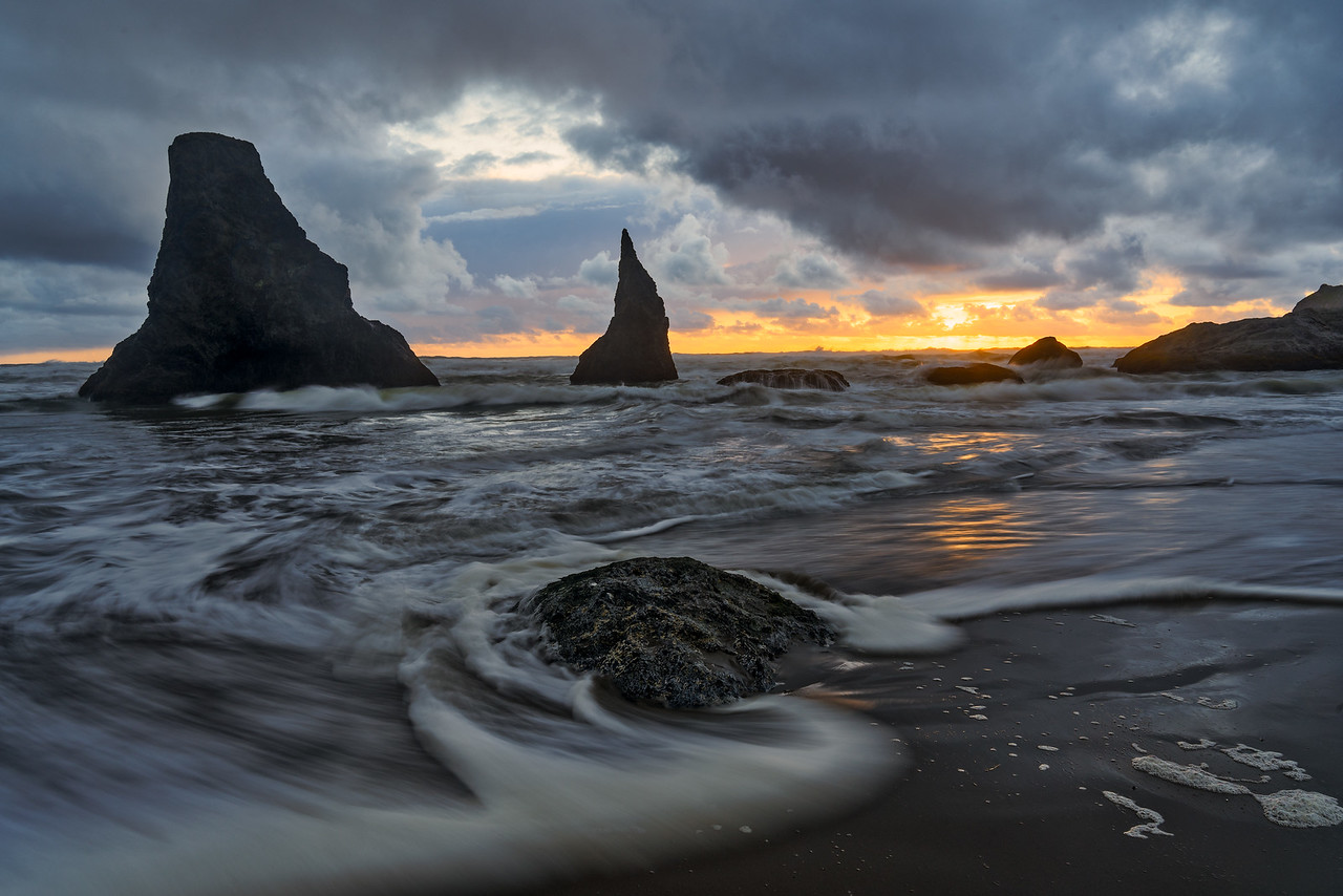 Sea Stacks and Clearing Storm