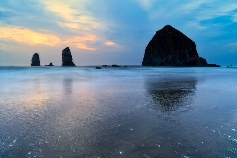 Dusk at Cannon Beach