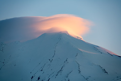 Dawn Alpenglow on Mt. Adams