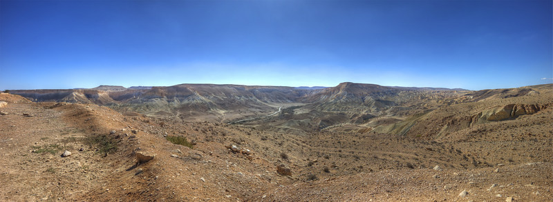 Panorama of the Negev Desert from Ben Gurion Memorial--High Dynamic range photo.