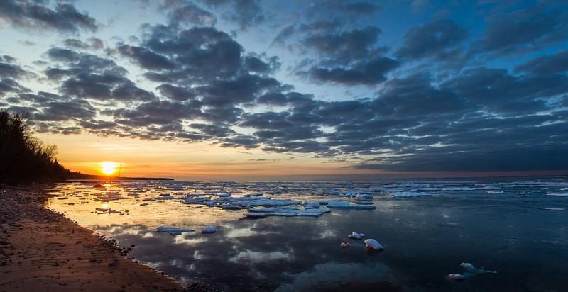 Madeline Island WI Icy Sunrise