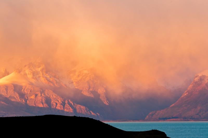 Alpenglow Over Andes Range