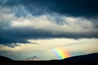 Castle Mountain and Rainbow