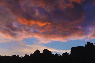 Stormy Sunset Over Pinnacles High Peaks