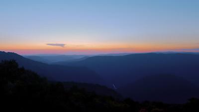 Pipestem State Park-sunset