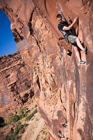 Rock Climbing in Moab - UT