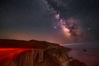 BIxby Bridge, Hurricane Point and Milky Way