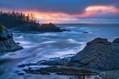 Cape Arago and Stormy Sky at Sunset