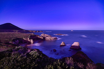 Starry Night Over Big Sur Coast