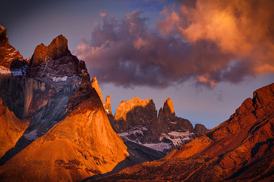 Alpenglow Light on Torres Towers