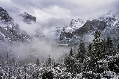 Clearing Winter Storm from Tunnel View, Yosemite National Park, California