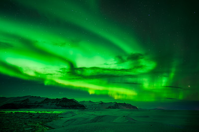 Northern Lights and Stars, Iceland