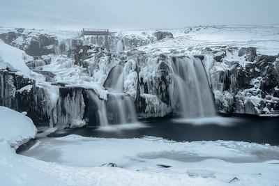 Frozen Falls, Kirkjufell, Iceland