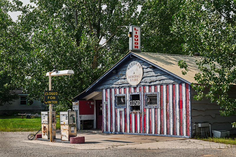 Defunct Gas Station, Strongs Corner, UP Michigan
