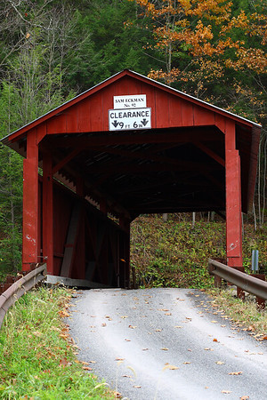 "Img#2479 ""Sam Eckman"" Bridge #92 located in Columbia county Pennsylvania. October 2009"