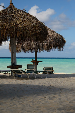 "IMG#4438 ""Chickee"" huts on the beach in Aruba"