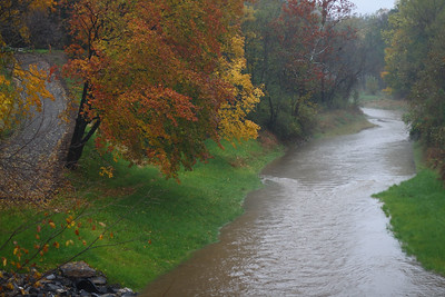 "IMG#2795 ""Dreary"" Creek on a rainy October day. Danville, Pennsylvania, 2009"
