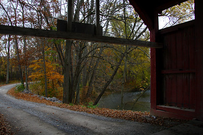 IMG#2425 Entrance to Keefer Bridge located in Liberty township,  Montour county, Pennsylvania. October 2009