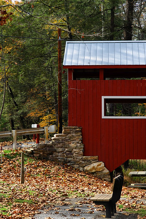 IMG#2595 East entrance to the East and West PadenTwin covered Bridges. The only twin covered bridges in the United States are located in Columbia county, Pensylvania. October 2009
