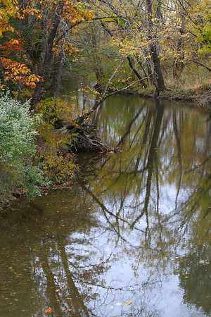"IMG#2458 Reflections in a ""Muddy Creek"" Mountour county, Pennsylvania"