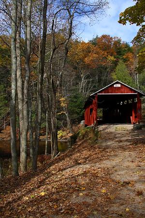 IMG#2596 Josiah Hess Bridge built in 1875 by Joseph Redline for $1,349.50. Located on Huntington Creek in Fishiing Creek Township, Columbia county, Pennsylvania. October 2009
