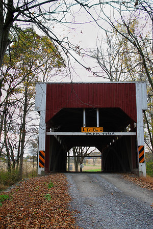 "IMG#2404 ""Keefer Bridge"" built in 1853 by William Butler for $498.00. Located in Liberty Township, Montour county Pennsylvania, it spans Chillisquaque Creek. October 2009"
